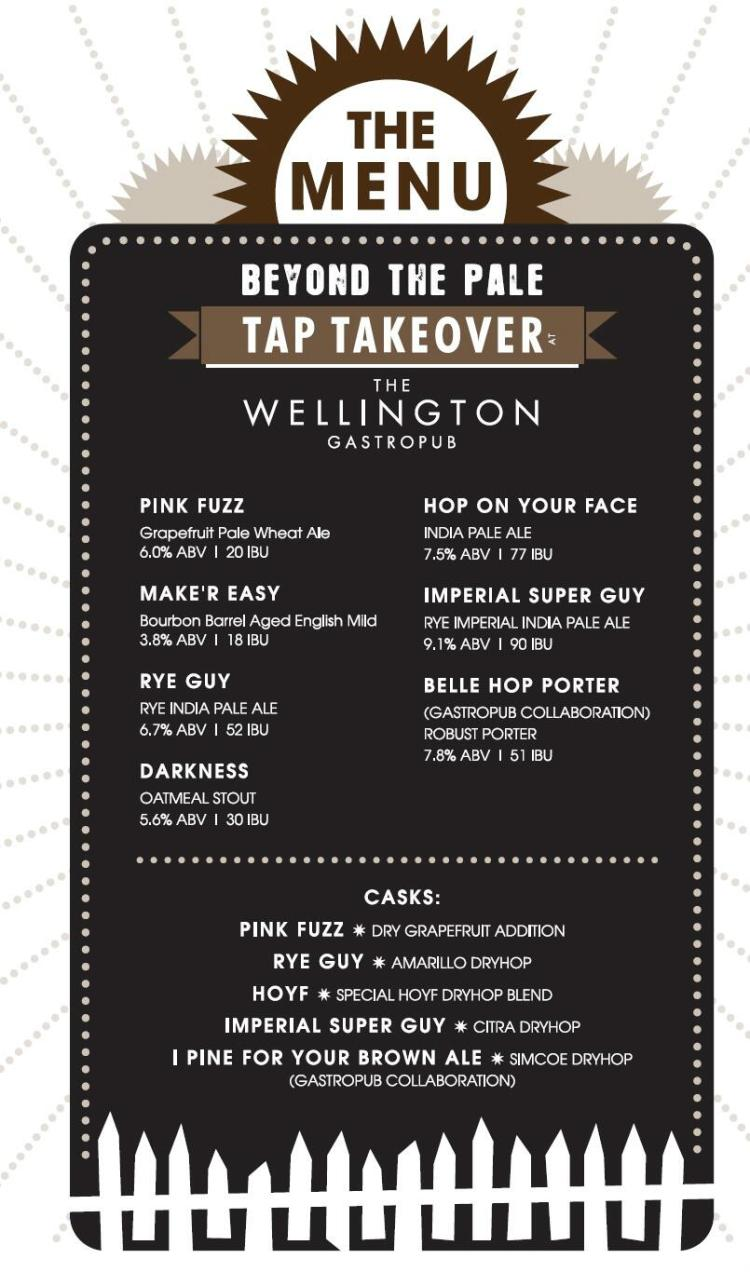 Gastropub and Beyond the Pale tap takeover