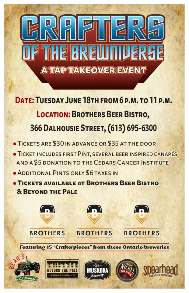 Crafters of the Brewniverse at Brothers Beer Bistro