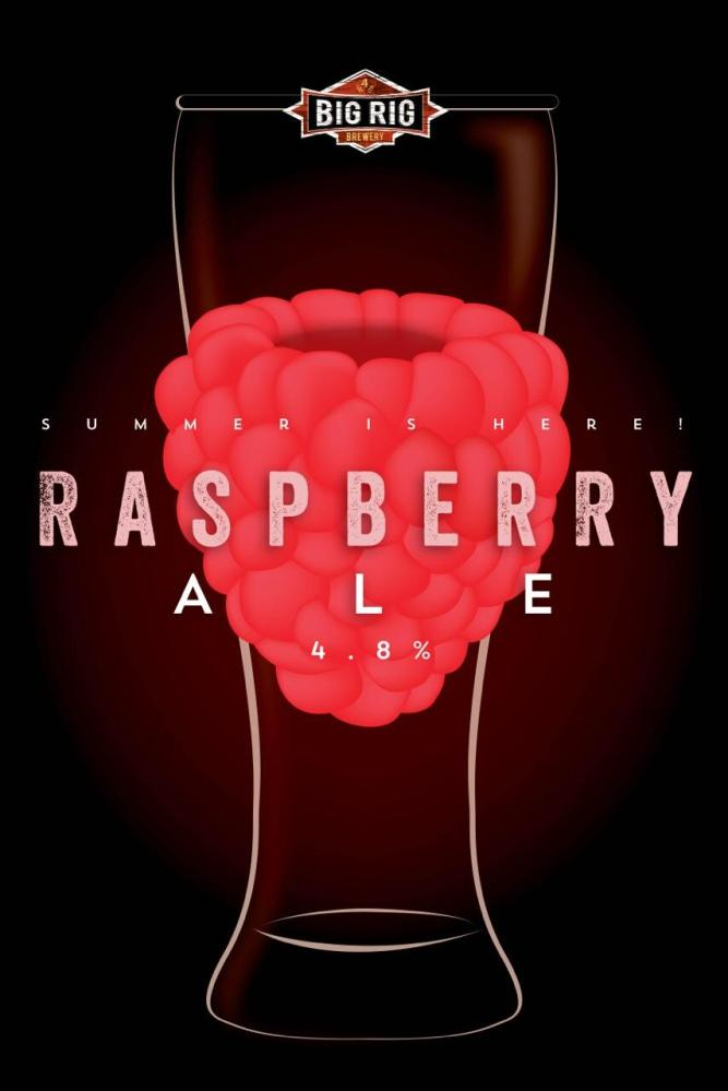 Big Rig Brewery's Raspberry Ale