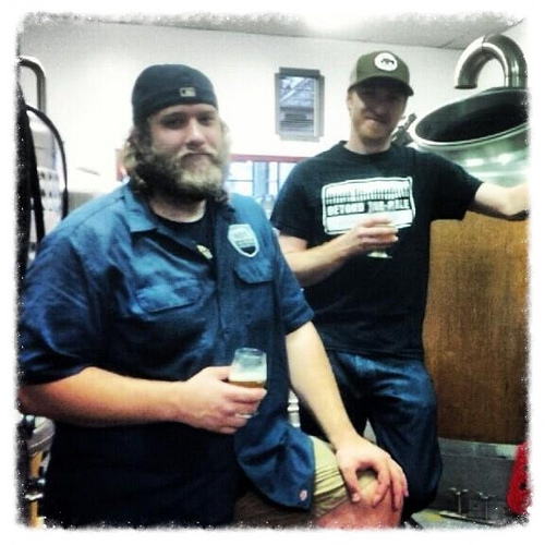 Jeff Broeders, brewer at Indie Ale House and Shane Clark, brewer at Beyond the Pale.
