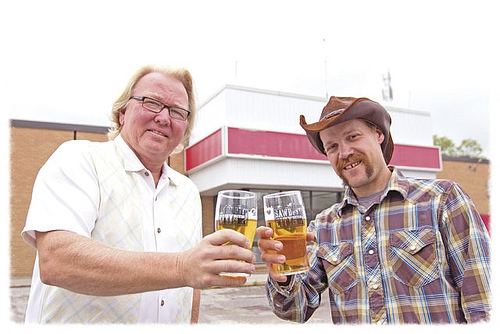 Sawdust City Brewing Company's Rob Engman (left) and Sam Corbeil (right)