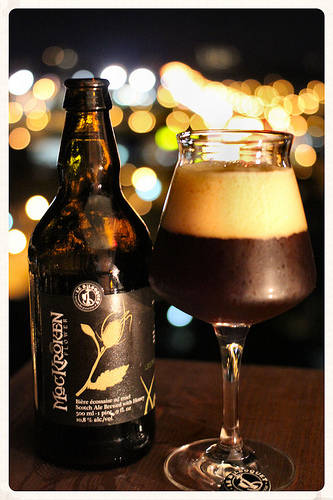 KATY VS. SASHA: MacKroken Flower Scotch Ale from Le Bilboquet available at Bières Du Monde