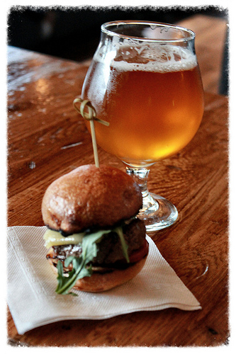 Burger and beer from Brothers Beer Bistro