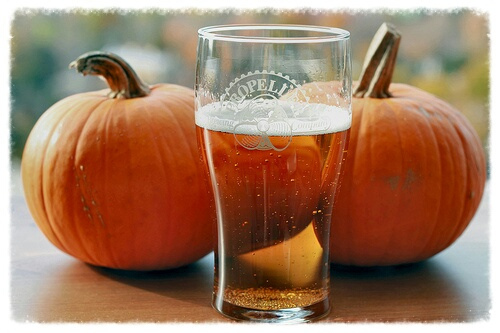 Pumpkin beer is for Thanksgiving!