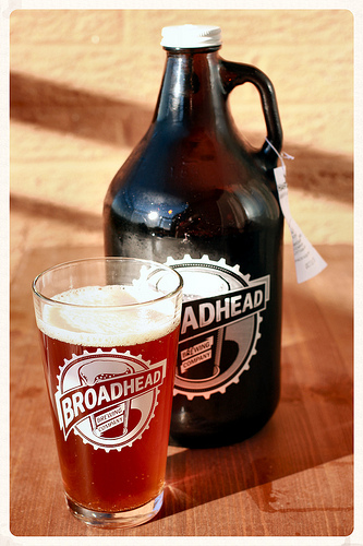 Harvest Amber Ale by Broadhead Brewing Company