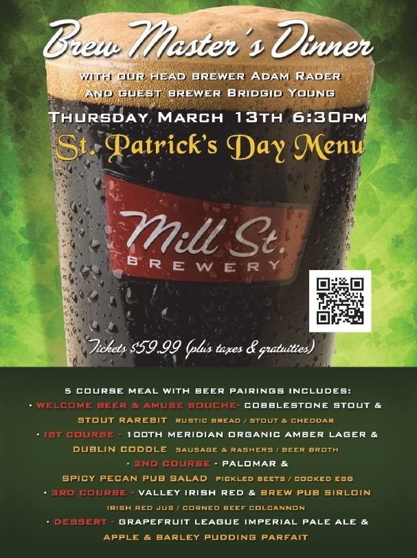 St. Patrick's Day Brew Master's Dinner