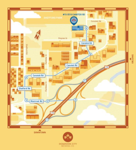 Dominion City map