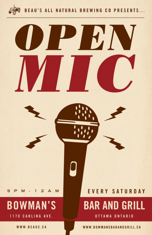 Open Mic at Bowman's (Every Saturday)